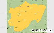 Savanna Style Simple Map of Kayseri