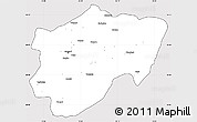 Silver Style Simple Map of Kayseri, cropped outside