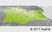 Physical Panoramic Map of Kirklareli, desaturated