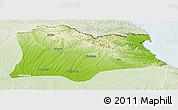 Physical Panoramic Map of Kirklareli, lighten