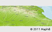 Physical Panoramic Map of Kirklareli