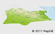 Physical Panoramic Map of Kirklareli, single color outside