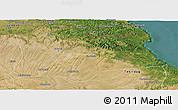 Satellite Panoramic Map of Kirklareli