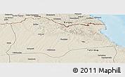 Shaded Relief Panoramic Map of Kirklareli