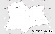 Silver Style Simple Map of Kirklareli, cropped outside