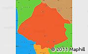 Political Simple Map of Kirsehir