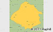 Savanna Style Simple Map of Kirsehir