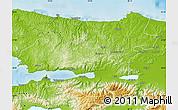 Physical Map of Kocaeli