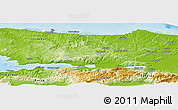 Physical Panoramic Map of Kocaeli