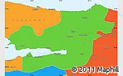 Political Simple Map of Kocaeli