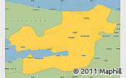 Savanna Style Simple Map of Kocaeli