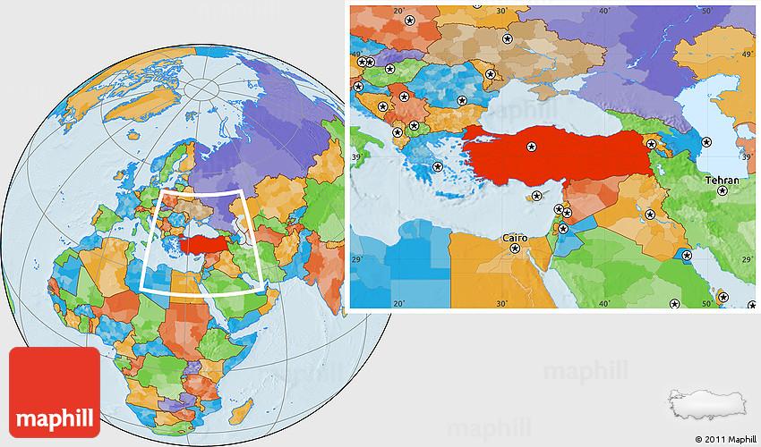 Political Location Map Of Turkey