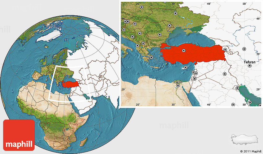 Turkey World Map Location