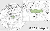 Savanna Style Location Map of Turkey, blank outside