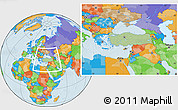 Savanna Style Location Map of Turkey, political outside