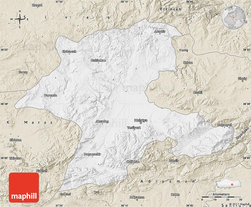 Classic Style Map of Malatya
