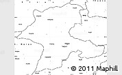 Blank Simple Map of Malatya