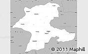 Gray Simple Map of Malatya