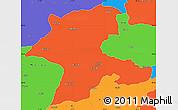 Political Simple Map of Malatya