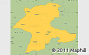Savanna Style Simple Map of Malatya