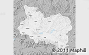 Gray Map of Manisa