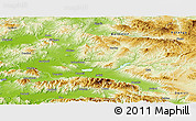 Physical Panoramic Map of Manisa
