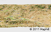 Satellite Panoramic Map of Manisa