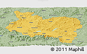 Savanna Style Panoramic Map of Manisa