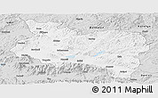 Silver Style Panoramic Map of Manisa