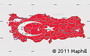 Flag Map of Turkey
