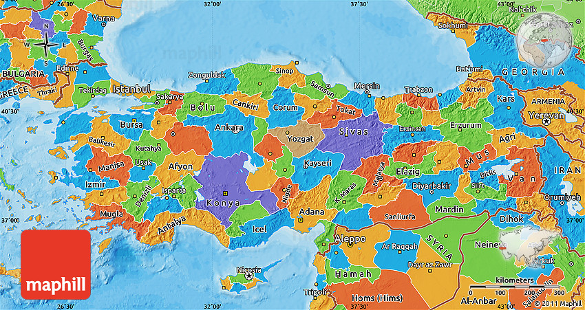 Political Map Of Turkey