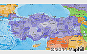 Political Shades Map of Turkey