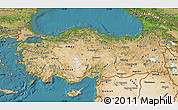 Satellite Map of Turkey