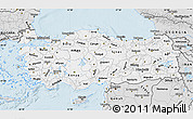 Silver Style Map of Turkey