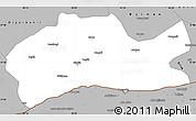 Gray Simple Map of Mardin
