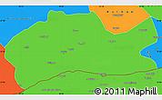Political Simple Map of Mardin