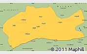 Savanna Style Simple Map of Mardin