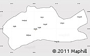 Silver Style Simple Map of Mardin, cropped outside