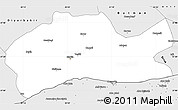 Silver Style Simple Map of Mardin