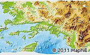 Physical 3D Map of Mugla