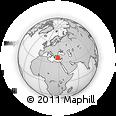 Outline Map of Mugla