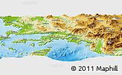 Physical Panoramic Map of Mugla