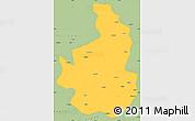 Savanna Style Simple Map of Nevsehir