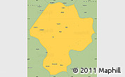 Savanna Style Simple Map of Nigde