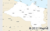 Classic Style Simple Map of Ordu