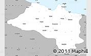 Gray Simple Map of Ordu