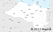 Silver Style Simple Map of Ordu