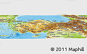 Physical Panoramic Map of Turkey