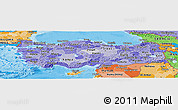 Political Shades Panoramic Map of Turkey