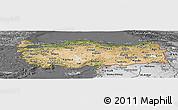 Satellite Panoramic Map of Turkey, desaturated